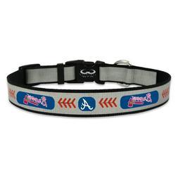 MLB Atlanta Braves Baseball Pet Collar, Large, Reflective