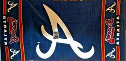 mlb atlanta braves beach towel 2 5