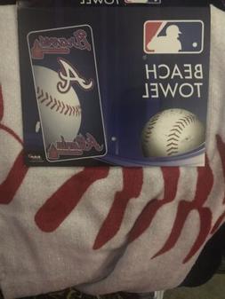 "MLB Atlanta Braves Beach Towel 30""x60"" Logo & Baseball D"