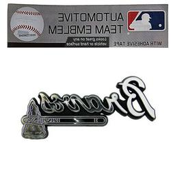 MLB Atlanta Braves Chrome Automobile Emblem