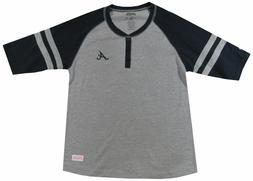 MLB Atlanta Braves Girls Colorblock Henley Shirt Size Girls