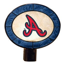 MLB Atlanta Braves Art-Glass Nightlight