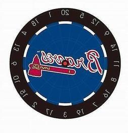 MLB Atlanta Braves Logo Bristle Dart Board with Darts + FREE