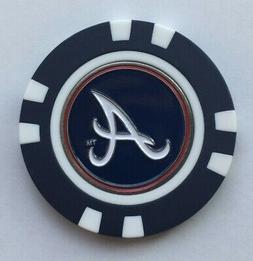 MLB Atlanta Braves Magnetic Poker Chip removable Golf Ball M