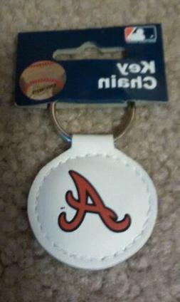 MLB Atlanta Braves Official Leather Keychain New Free Shippi