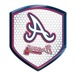 MLB Atlanta Braves Team Shield Automobile Reflector