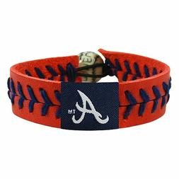 GameWear MLB Atlanta Braves Team Color Baseball Bracelet