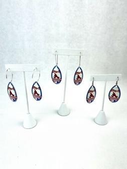 MLB Atlanta Braves Teardrop Spinner Women's Earrings