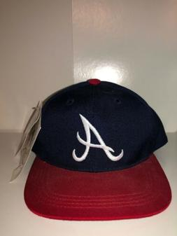 MLB Atlanta Braves Youth HOME Fitted Hat Navy/Red Snapback B