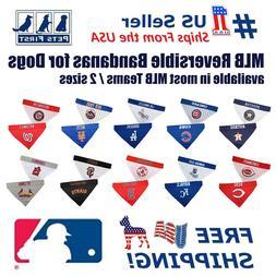 mlb dog bandana licensed reversible pet bandana