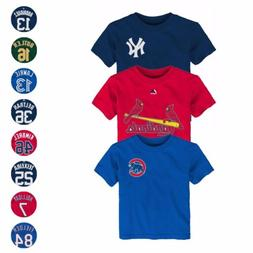 MLB Majestic Faux Stitch Name & Number T-Shirt Collection To