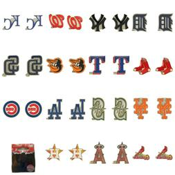 MLB Aminco Post Stud Earrings All Teams Official Licensed -