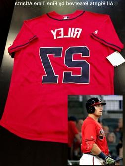 NEW 2019 Austin Riley Atlanta Braves Men's Navy / Red Road A