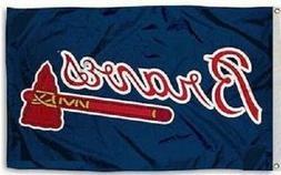 NEW Atlanta Braves MLB Baseball Large 3x5 Flag Banner  FREE