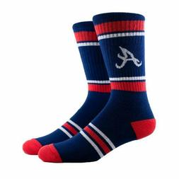 Atlanta Braves MLB Navy Crew Socks Men Youth Size Acuna Rile