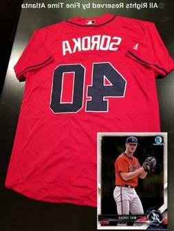 NEW Atlanta Braves Phenom Mike Soroka Men's Red 3rd Alternat