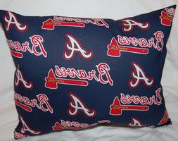 NEW HANDMADE ATLANTA BRAVES  TRAVEL CUDDLE  PILLOW