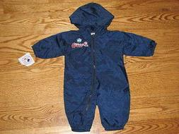 NEW Baby Atlanta Braves Windsuit Coverall Baby 6/9M 6/9 Mo B