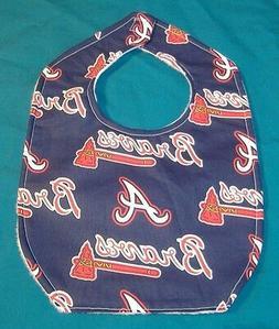 new baby child bib atlanta braves baseball