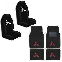 New MLB Atlanta Braves Car Truck Seat Covers & Front Back Ca