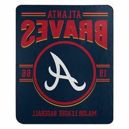 New Northwest MLB Atlanta Braves Fleece Throw Blanket Large