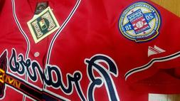 new red atlanta braves 10 chipper jones