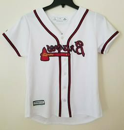 NWT Atlanta Braves MLB Majestic Cool Base Women's L, Toddler