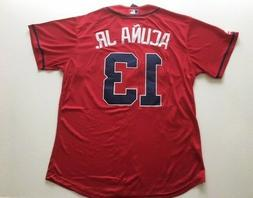 Ronald Acuna Jr. #13 Atlanta Braves Jersey Men Size L Large