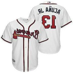 Ronald Acuna Jr #13 Atlanta Braves White Classic Baseball Je