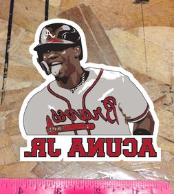 Ronald Acuna Jr Atlanta Braves Fan Sticker Decal Bumper Car