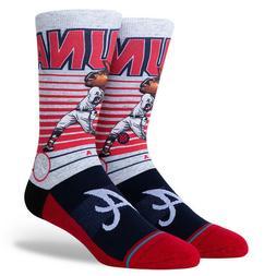 Ronald Acuna Jr. Atlanta Braves Stance MLB Socks Large Big H