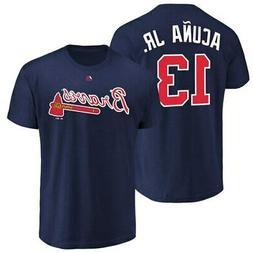 Ronald Acuna Jr. Atlanta Braves Majestic Youth Player Name &