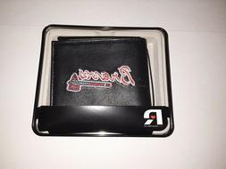 Rico Sporting Goods 138358 Atlanta Braves Mens Black Leather