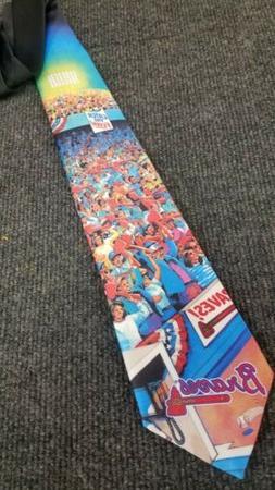 VINTAGE 1993 NEW TIE RALPH MARLIN Atlanta Braves #V61