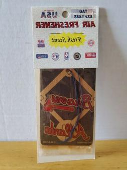 Vintage 1995 Atlanta Braves MLB Air Freshener by Tag Express