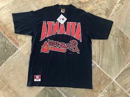 Vintage Atlanta Braves Nutmeg Mills Baseball Tshirt, Size La