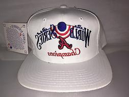 Vtg Atlanta Braves Snapback hat cap 1995 World Series MLB Ba
