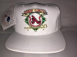 Vtg Atlanta Braves Snapback hat cap 1995 World Series MLB Ba